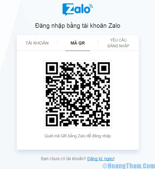 đăng nhập zalo web bằng QR code