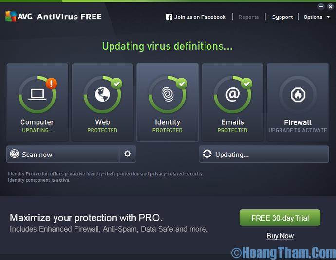 phần mềm diệt virus miễn phí AVG Free Antivirus