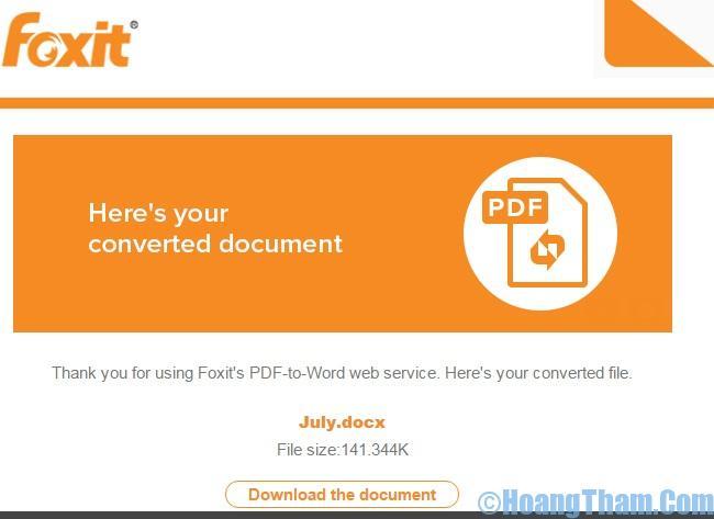 chuyển pdf sang word đơn giản