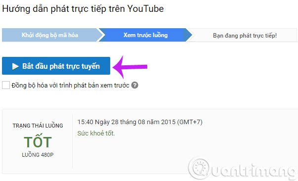 Cách phát live stream video trên youtube