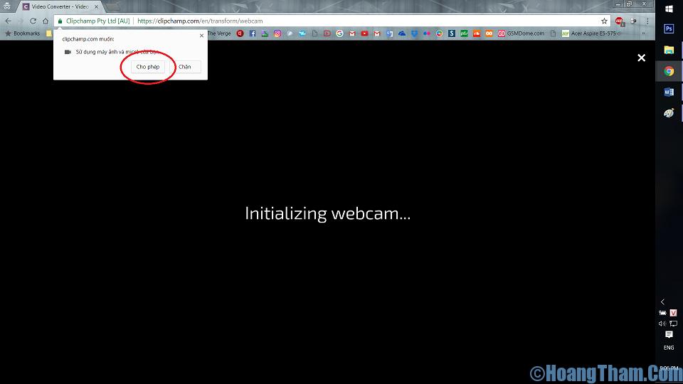 Cách quay video bằng webcam không dùng phần mềm