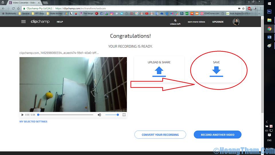Cách quay video bằng webcam không cần phần mềm