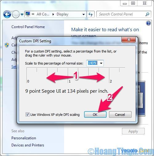 Cách thay đổi cỡ chữ màn hình may tính 22