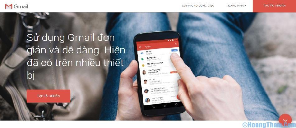 Cách đăng ký tạo lập tài khoản Gmail