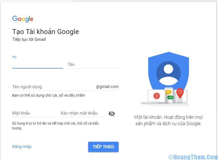 Cách đăng ký, tạo tài khoản Gmail nhanh nhất
