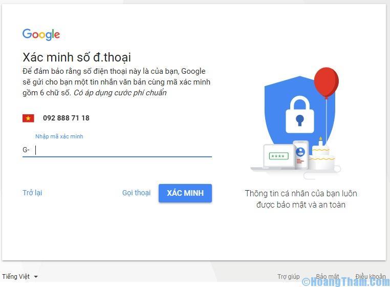 Cách đăng ký tài khoản Gmail
