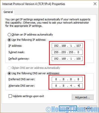Cách thay đỏi địa chỉ ip cho máy tính của mình