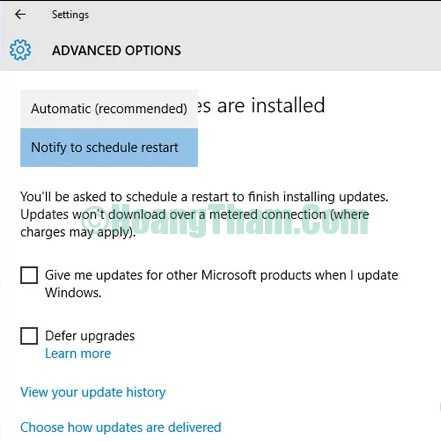 Cách tắt tính năng windows update trong windows 10
