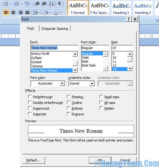 Định dạng văn bản trong Word