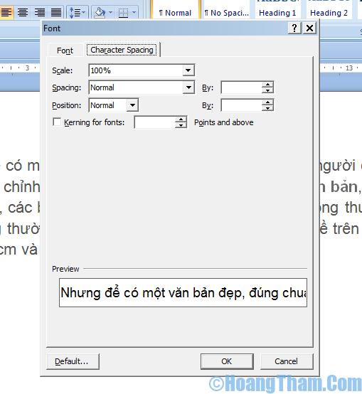 Định dạng văn bản trong file Word