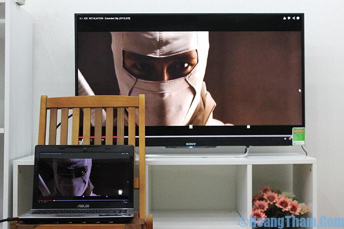Cách kết nối laptop với tivi bằng dây HDMI