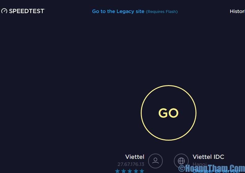 Kiểm tra tốc độ mạng internet
