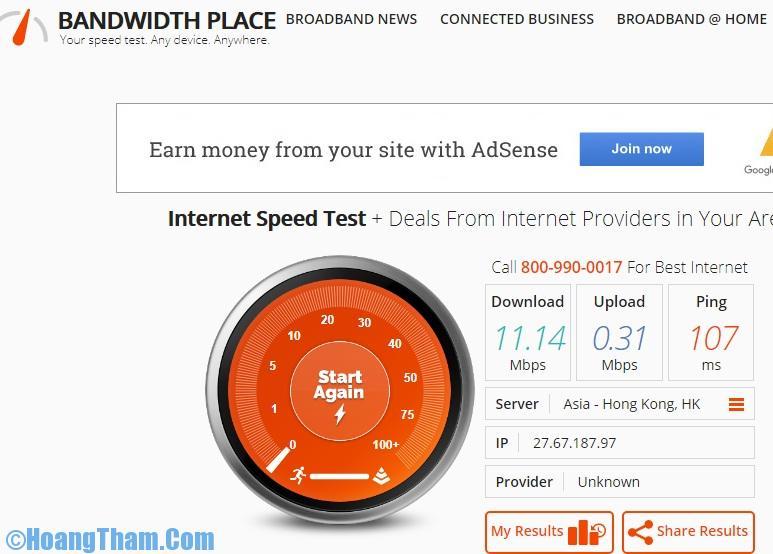 Kiểm tra tốc độ mạng chính xác nhất