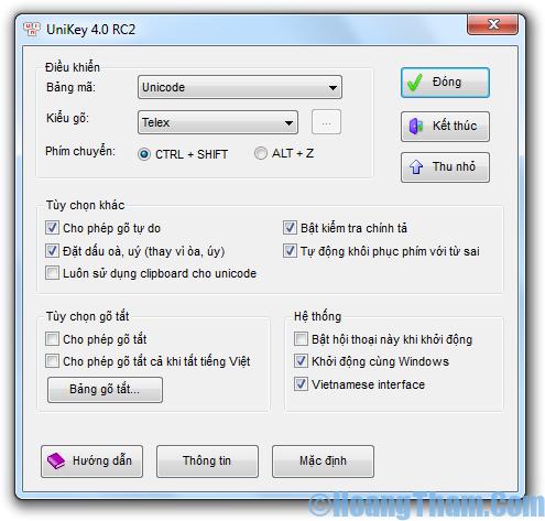 Phần mềm gõ tiếng việt Unikey