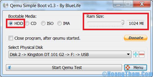 Cách test usb boot bằng phần mềm