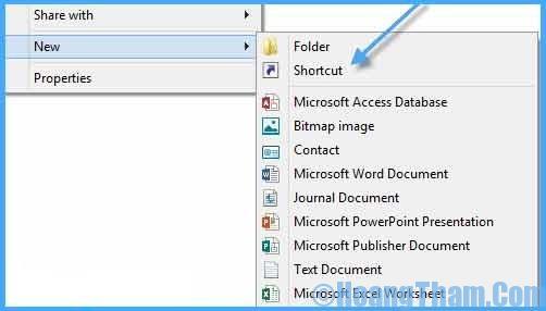 Tạo nút tắt máy tính Shutdown cho windows