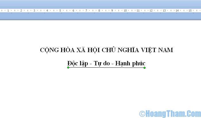 Cách gạch chân chữ trong Word 2007 và các bản mới hơn