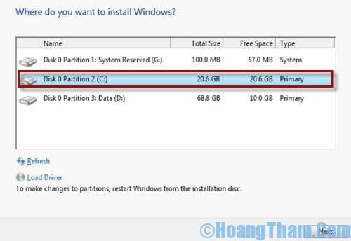 Format ổ cứng khi cài lại windows
