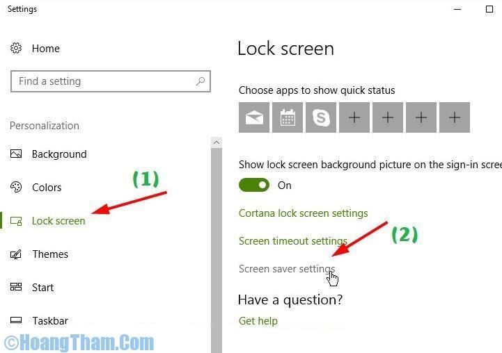 Cách thay đổi màn hình chờ máy tính
