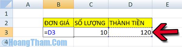 Hàm chia trong Excel