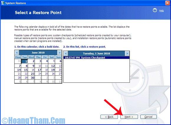 Sử dụng System restore trong win xp