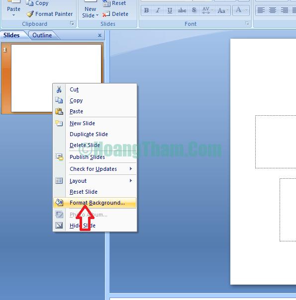 Cách chèn hình nền background powerpoint cho slide trình chiếu 2