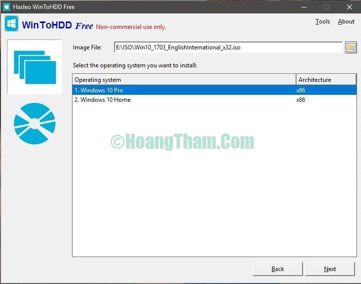Cài windows bằng phần mềm WIntoHDD