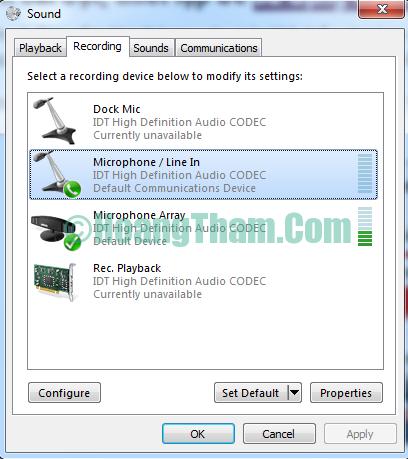 ghi âm trên máy tính không cần phần mềm