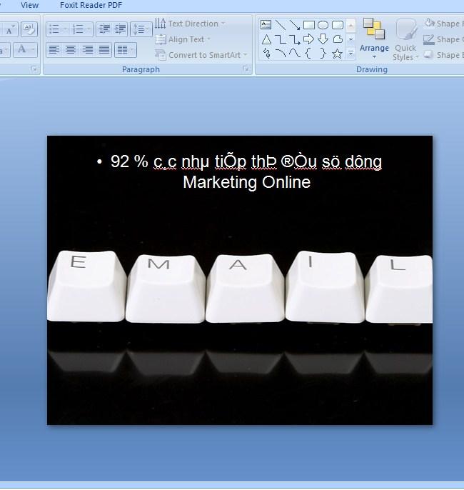 Cách chuyển đổi font chữ trong Powerpoint 1