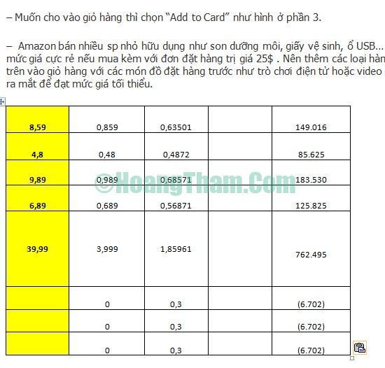 Cách copy dữ liệu từ file Excel sang Word 2