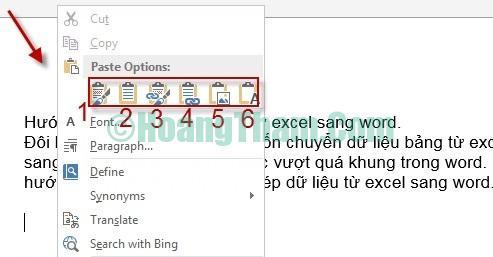 Cách copy dữ liệu từ file Excel sang Word 7