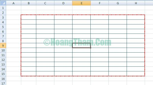 Cách kẻ bảng và tạo bảng trong Excel 13
