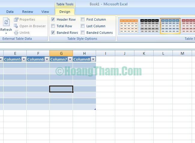 Cách kẻ bảng và tạo bảng trong Excel 6