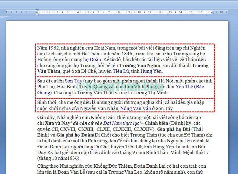 Cách tạo khung và xóa khung trong Word 14