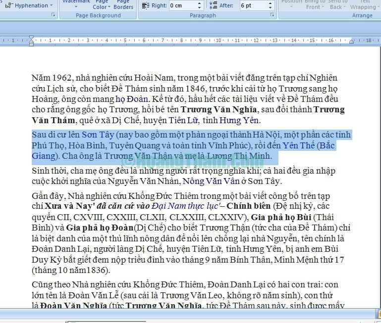 Cách tạo khung và xóa khung trong Word 9