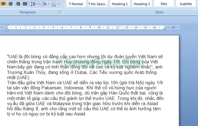 Cách giãn dòng và chỉnh khoảng cách chữ trong word 1