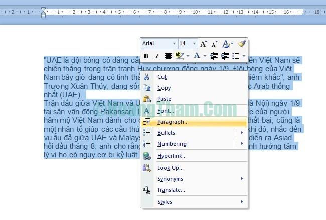 Cách giãn dòng và chỉnh khoảng cách chữ trong word 3