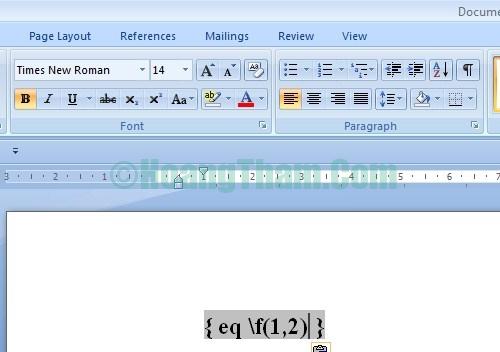 Cách viết phân số và gõ công thức toán học trong Word 1