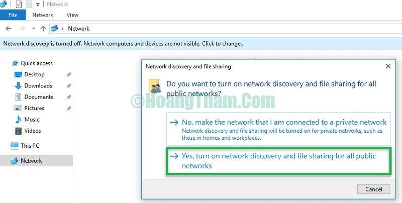 Sửa lỗi không tìm thấy máy tính khác trong mạng lan 11