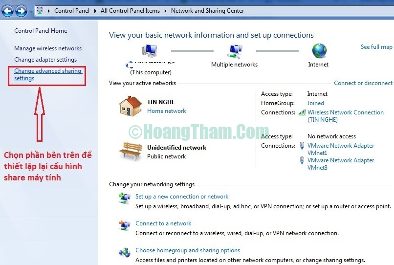 Sửa lỗi không tìm thấy máy tính khác trong mạng lan 4
