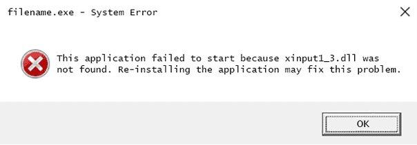 sửa lỗi không tìm thấy hoặc thiếu file Xinput1_3.dll 1
