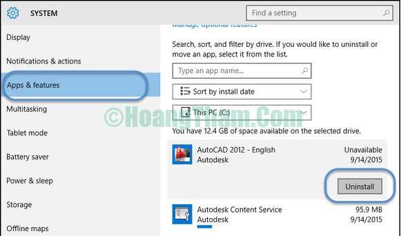 Cách gỡ phần mềm và ứng dụng trên windows 10-2