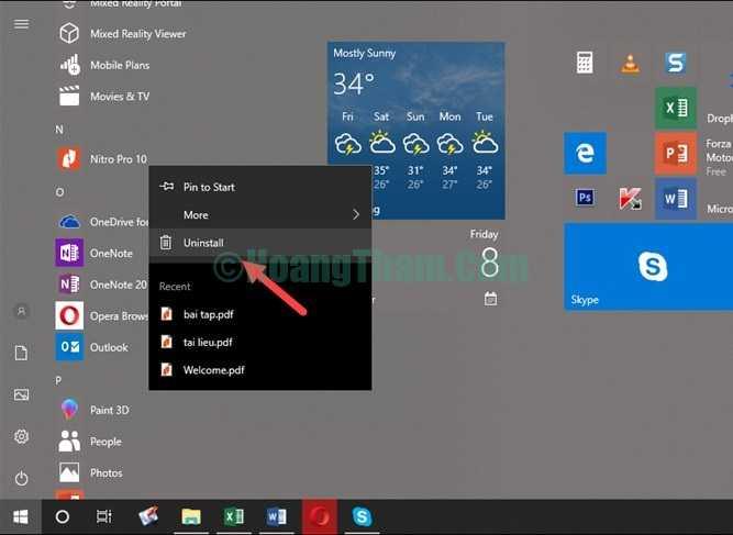 Cách gỡ phần mềm và ứng dụng trên windows 10-4