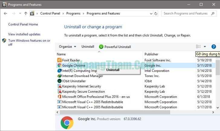 Cách gỡ phần mềm và ứng dụng trên windows 10-5