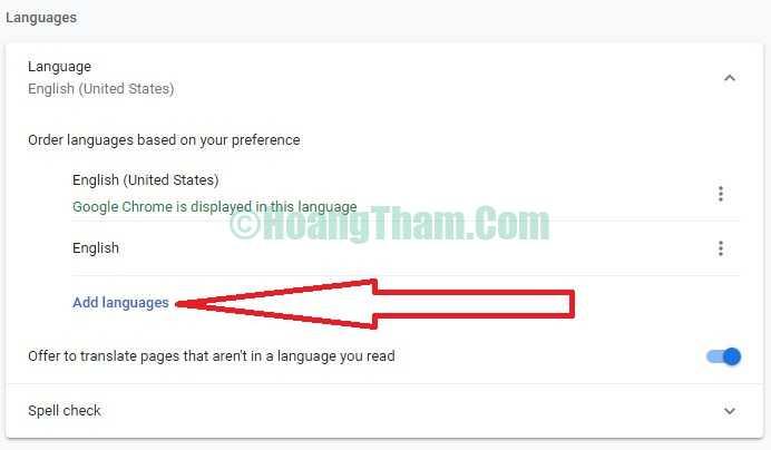 Hướng dẫn cài tiếng Việt cho Google Chrome 5