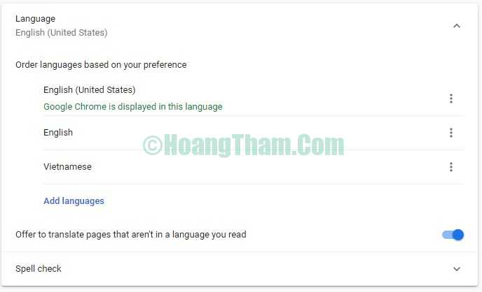 Hướng dẫn cài tiếng Việt cho Google Chrome 7