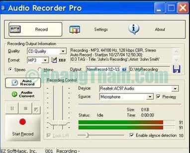 Phần mềm ghi âm trên máy tính tốt nhất