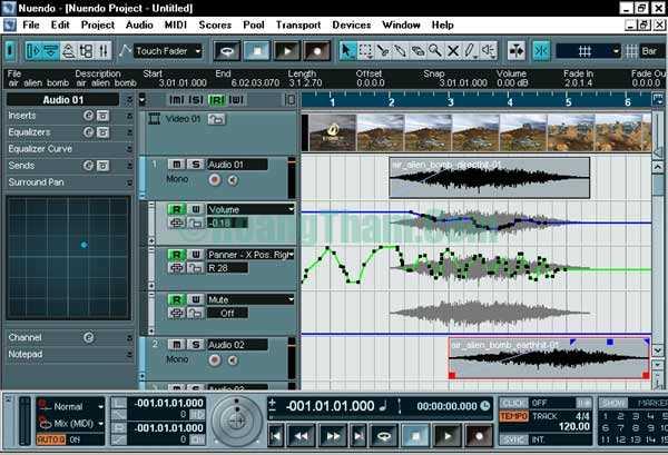 Phần mềm thu âm chuyên nghiệp trên máy tính Nuendo 3