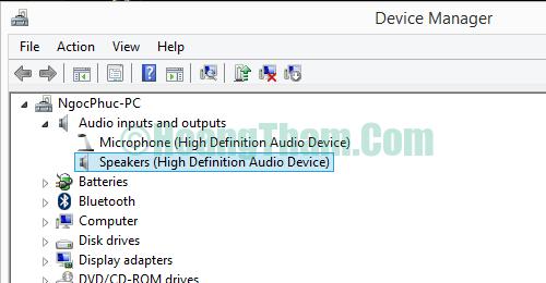 Cách sửa lỗi laptop không nhận tai nghe 3