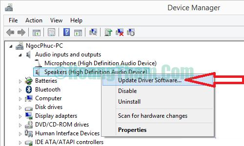 Cách sửa lỗi laptop không nhận tai nghe 6